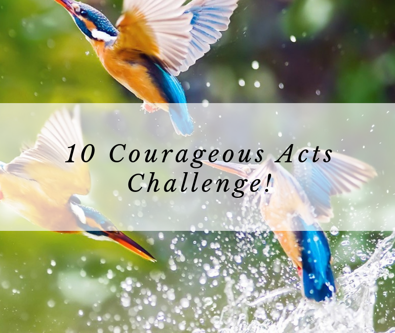 """My """"10 Courageous Acts Challenge"""" results"""