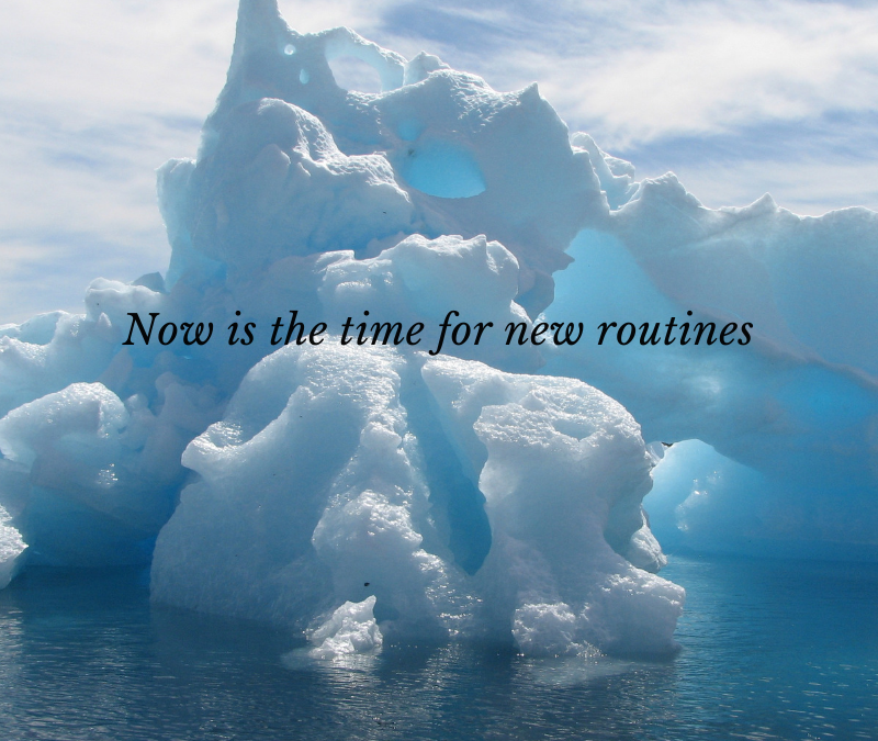 Now is the time for new routines